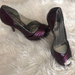 Plum colored Guess shoes